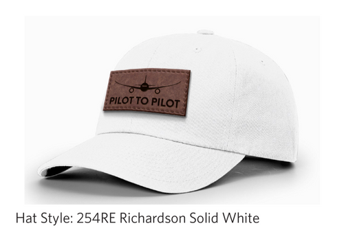 Pilot to Pilot Dad Hat (Tan Patch)