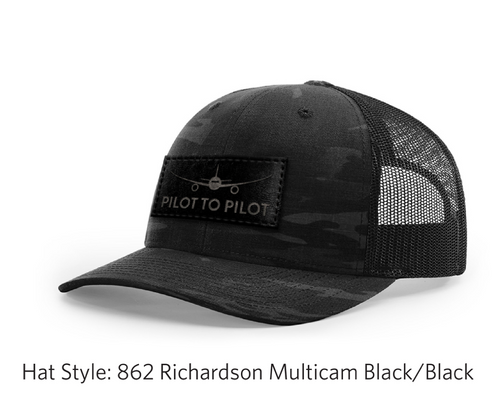 Pilot to Pilot Camo Trucker Hat