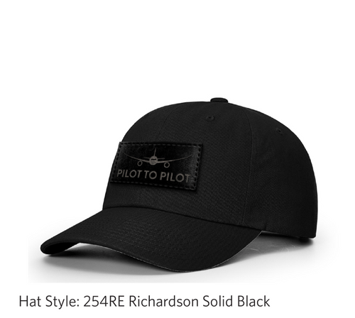 **Pre Order** Pilot to Pilot Dad Hat (Black Patch)