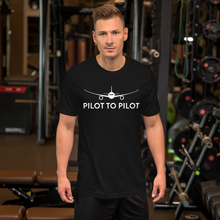 Load image into Gallery viewer, Pilot to Pilot Black Tee