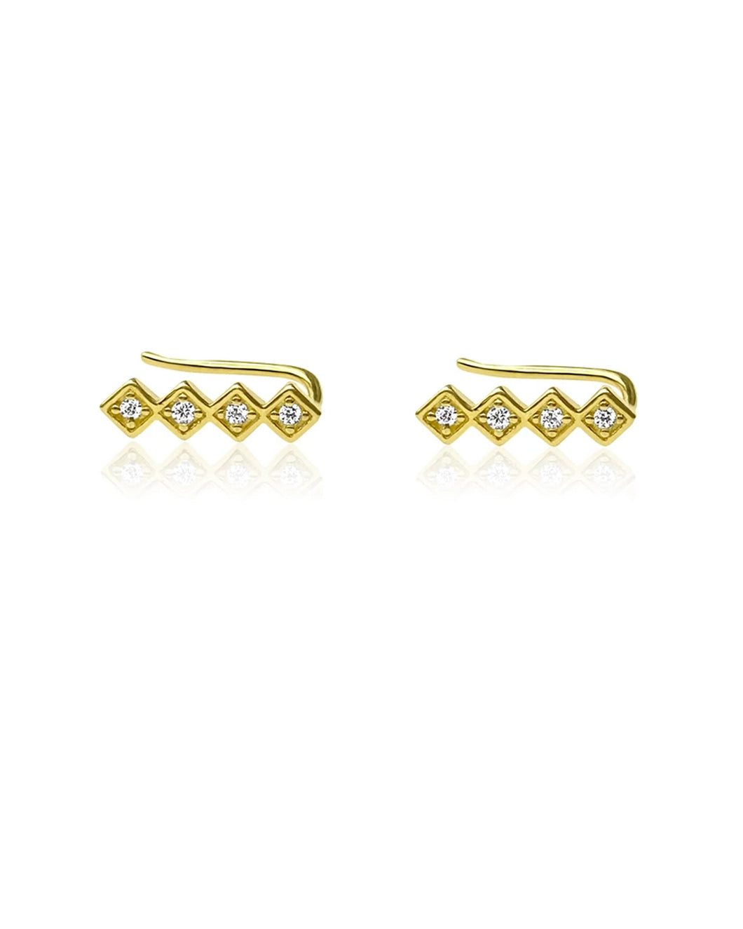 Chloe Climbers Gold | Gold Plated 925 Sterling Silver