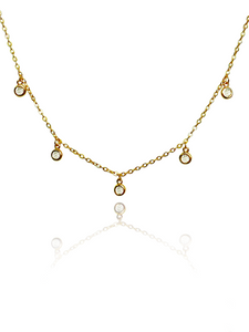 Demi Drop Necklace | Gold Plated 925 Sterling Silver