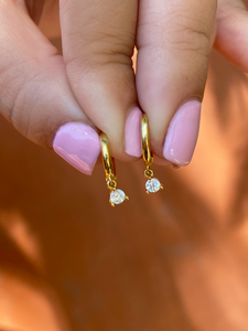 Hailey Drops Gold | Gold Plated 925 Sterling Silver