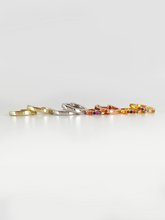 Load image into Gallery viewer, Double Rainbow Huggies Gold | Gold Plated 925 Sterling Silver