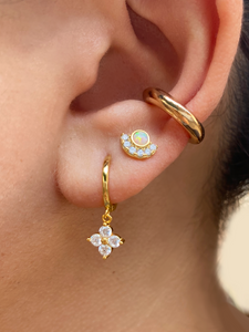 Sadie Studs | Gold Plated 925 Sterling Silver Opal