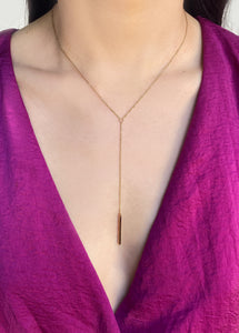 Natalie Lariat Necklace Gold