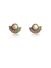Load image into Gallery viewer, Sadie Studs | Gold Plated 925 Sterling Silver Opal