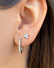 Load image into Gallery viewer, Trio Bezel Studs Silver | 925 Sterling Silver