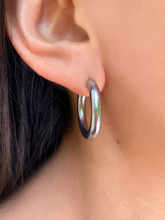 Load image into Gallery viewer, Zoie Hoops Silver