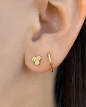 Load image into Gallery viewer, Trio Bezel Studs Gold | Gold Plated 925 Sterling Silver