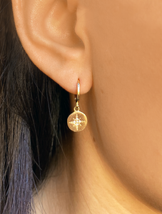 Gold Star Disc | Gold Plated 925 Sterling Silver