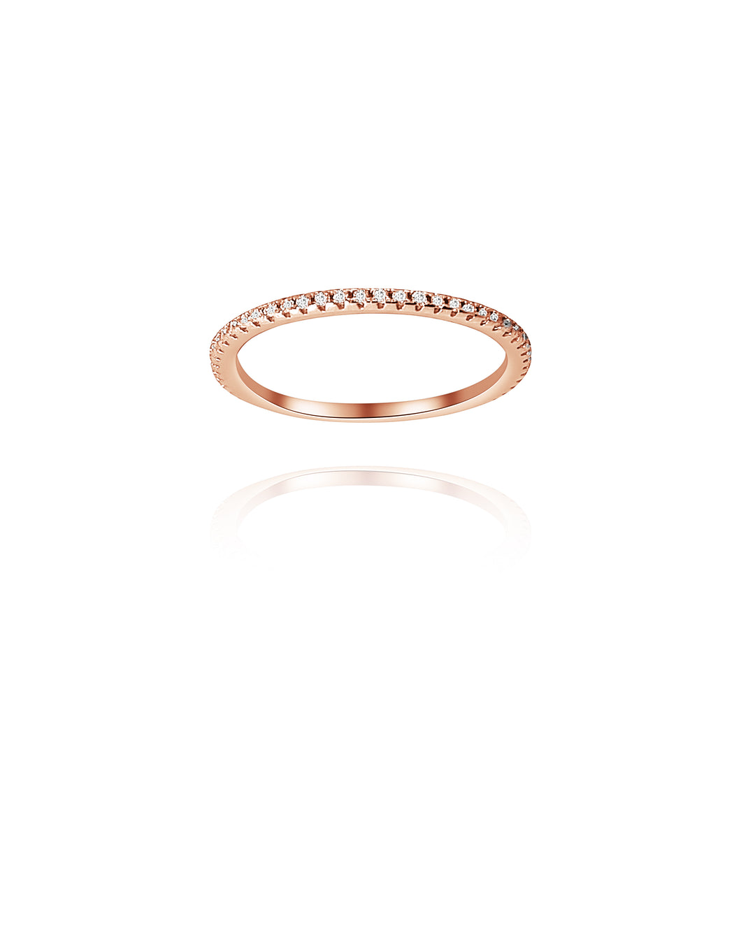 Infinity Band Rose Gold - Gold Plated 925 Sterling Silver