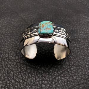 """Take Flight"" Cuff w/ #8 Turquoise"