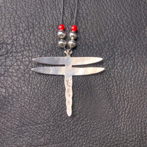 Textured Dragonfly Pendant