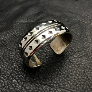 Diamonds and Stripes Stamped Cuff