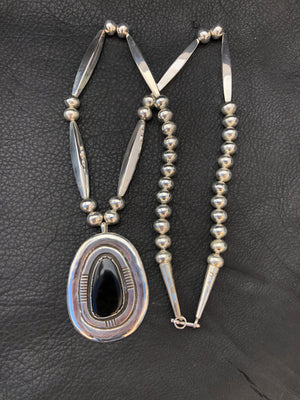 Black Jade Long Bead™️ Necklace