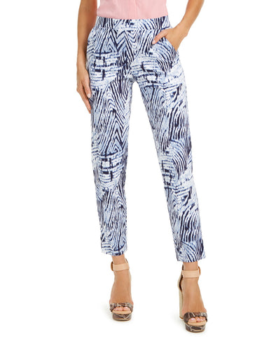 Blue Zebra Print Temp Tech Trouser
