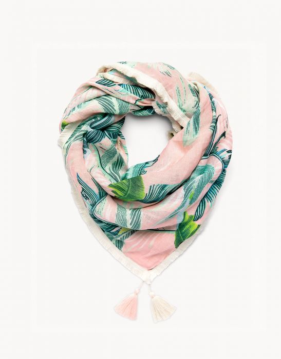 Retreat Square Scarf Cabana Leaf