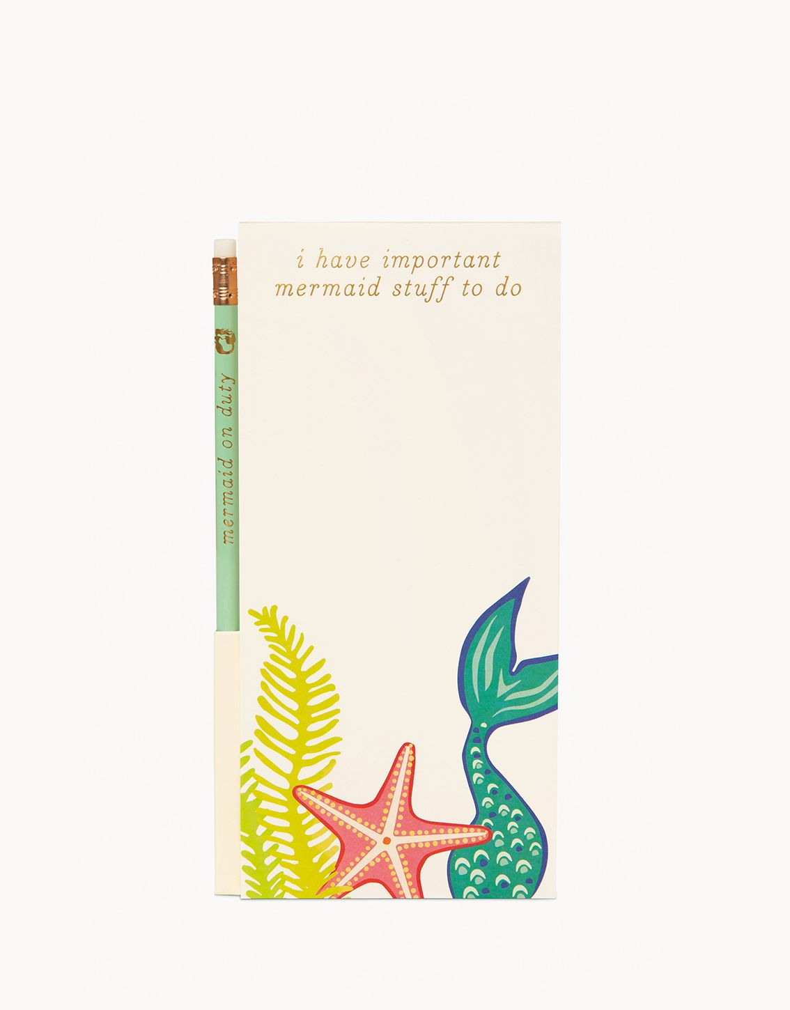 Golden Mermaid Pencil List Pad