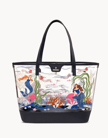 Gypsea Mermaid Clear Tote