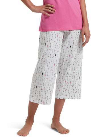 Martini Glass Sleep Capris