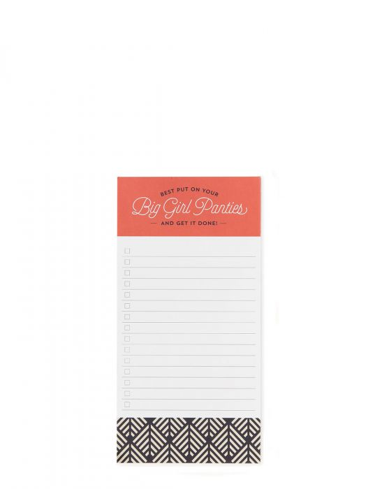 Big Girl Panties List Pad
