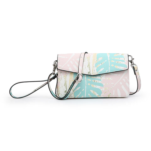 Leaf Print Touch Screen Crossbody