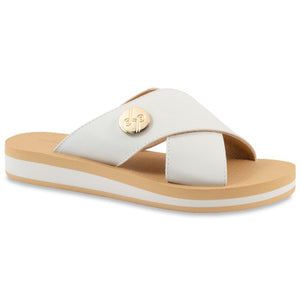 Lotus Sandal White