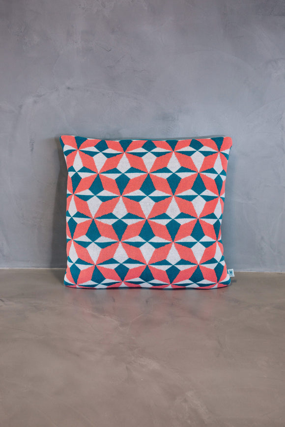 Cushion Cover Azulejo Lisboa Coral