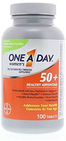 One-A-Day Women's 50+ Advantage Multivitamin/Multimineral Tablets 100 ea (Pack of 2)