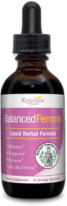Balanced Femme Natural PMS and Menopause Support for Hot Flashes with Black Cohosh - All-Natural Liquid for 2X Absorption