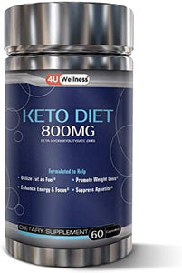 Keto Diet Pills/Capsules - All Natural Weight Loss Keto Supplement for Women & Men with BHB Ketone Salts (800MG) Supress Appetite, Natrually Burn Stored Fat