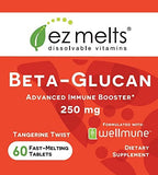 EZ Melts Beta-Glucan with Wellmune, 250 mg, Sublingual Vitamins, Vegan, Zero Sugar, Natural Orange Flavor, 60 Fast Dissolve Tablets
