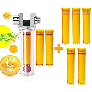 UBS Vfs-f+vcf-05 Luxury Vita-fresh Shower Filter with 7 Vitamin C Cartridge
