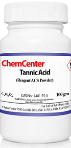 Tannic Acid, Reagent ACS, High Purity, 100 grams
