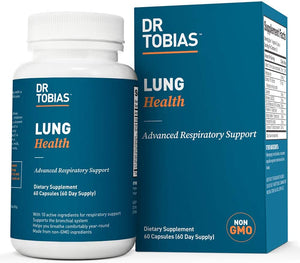 Dr Tobias Lung Health - Lung Cleanse & Detox for Respiratory Support (60 Count)