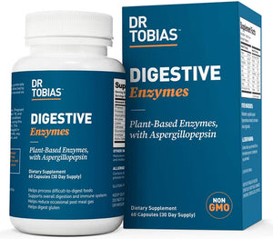 Dr Tobias Digestive Enzymes - 18 Enzymes for Digestive Health
