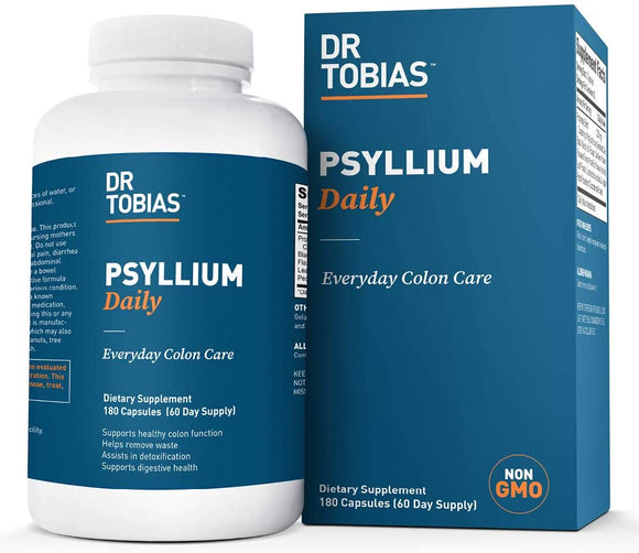 Dr Tobias Psyllium Daily - Cleanse & Detox Your Colon (180 Count)