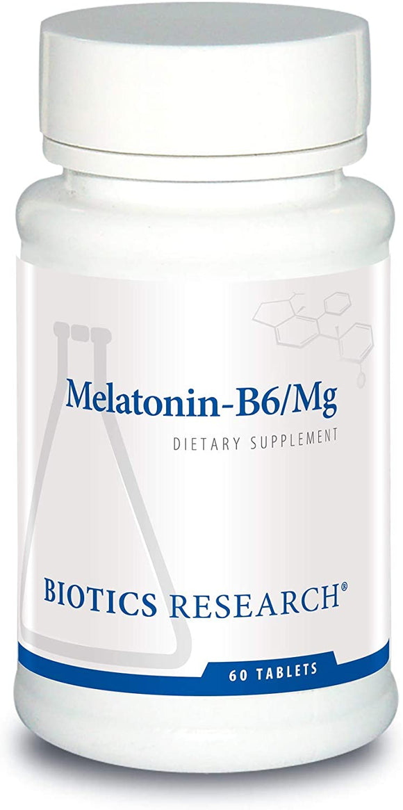 Biotics Research Melatonin B6 Mag Sleep Support, Circadian Rhythm Support, Fall Asleep and Stay Asleep, Supports Calming Brain Activity, Healthy Weight Management, Overall Relaxation Response. 60caps