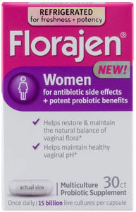 Florajen Women High Potency Refrigerated Probiotics | Maintains Women's Health | for Antibiotic Side Effects | 30 Capsules