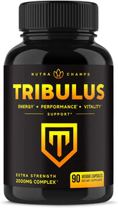 Tribulus Terrestris 2000mg Supplement [Extra Strength] 45% Saponins - Enhanced Absorption with Maca Powder & Black Pepper Extract - Tribulus Terrestris for Men & Women - 90 Vegan Capsules
