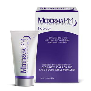 Mederma PM Intensive Overnight Scar Cream - Works with Skin's Nighttime Regenerative Activity - Once-Nightly Application is Clinically Shown to Make Scars Smaller & Less Visible