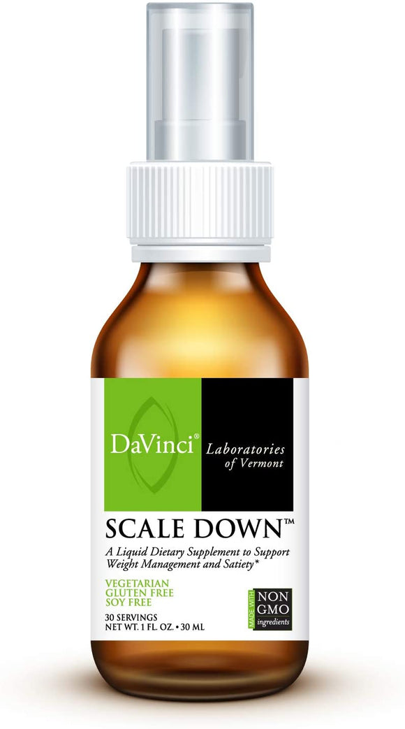 DaVinci Laboratories of Vermont of Vermont – Scale Down, Liquid Weight Management Supplement with Dyglofit, 30 Servings, Vegetarian