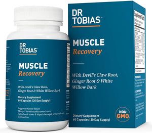 Dr Tobias Muscle Recovery - Joint & Muscle Aches & Pain - Injury Supplement (60 Count)