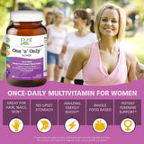 One N Only Multivitamin for Women by Pure Essence - Natural One a Day Herbal Supplement with Vitamin D, D3, B12, Biotin - 90 Tablets