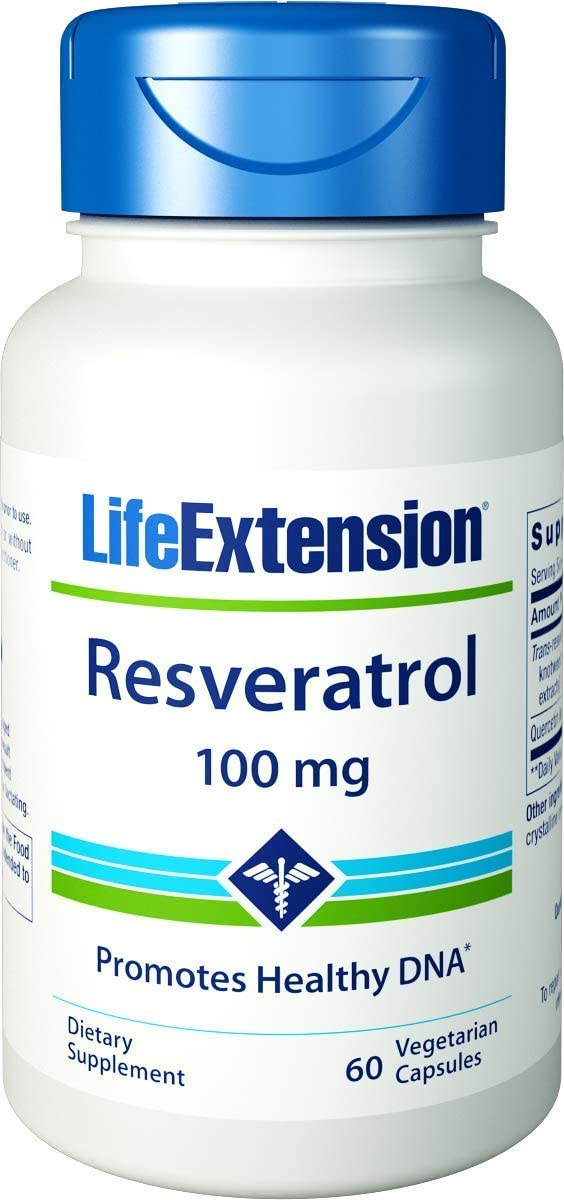 Life Extension Resveratrol Promotes Longer Life 100 mg, 60 Vegetarian Capsules