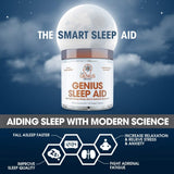 Genius Sleep AID – Smart Sleeping Pills & Adrenal Fatigue Supplement, Natural Stress, Anxiety & Insomnia Relief - Relaxation Enhancer and Mood Support w/Inositol, L-Theanine & Glycine – 40 Capsules