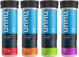 Nuun Sport + Caffeine: Electrolyte Drink Tablets, Mixed Flavor Box, 4 Tubes (40 Servings)