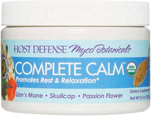 Host Defense, MycoBotanicals Complete Calm Powder, Sleep and Relaxation Support with Superfood Mushroom Mycelium, 3.5 Oz