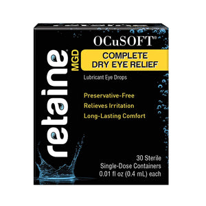 Ocusoft Retaine MGD Ophthalmic Emulsion, Milky White Solution,  30 count Single Use Containers, 0.01 Fluid Ounce